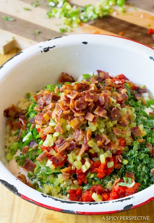 The Best Darn Macaroni Salad Recipe | ASpicyPerspective.com