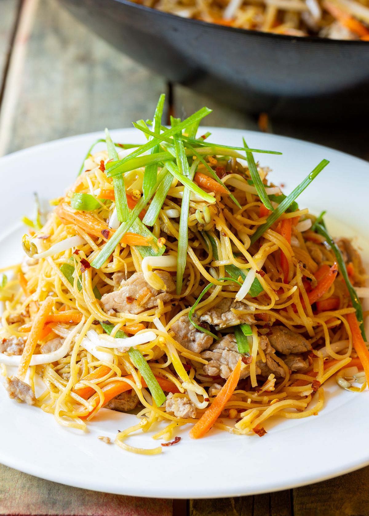 How To Make Cantonese Pan Fried Noodles (Pork Lo Mein)