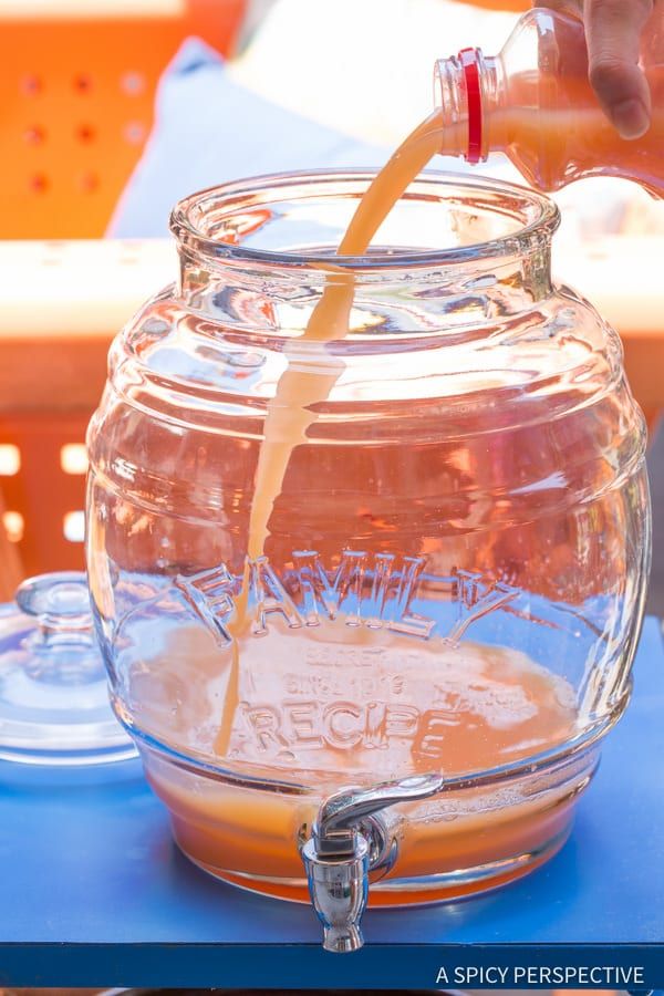 Easy to Make Bahamian Blaster Party Punch - Large Batch Summer Cocktail Recipe! | ASpicyPerspective.com