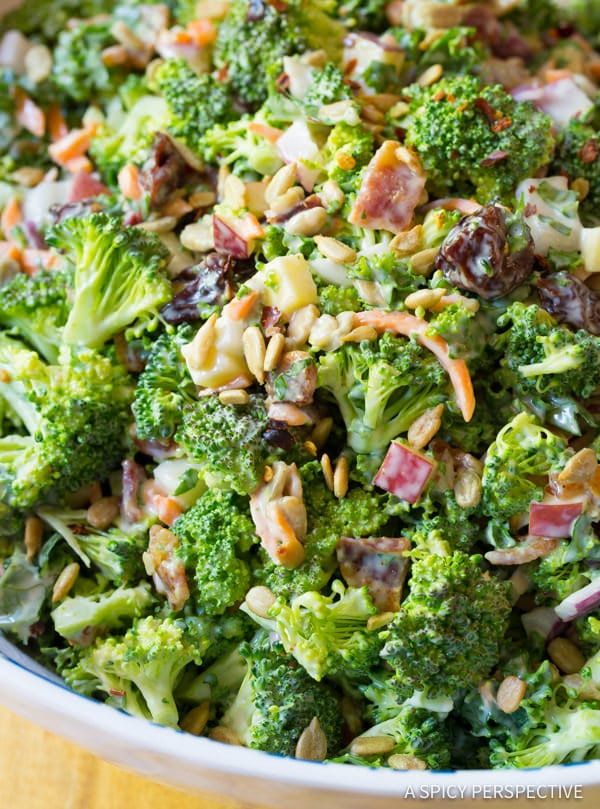 Love this! The Best Broccoli Salad Recipe | ASpicyPerspective.com