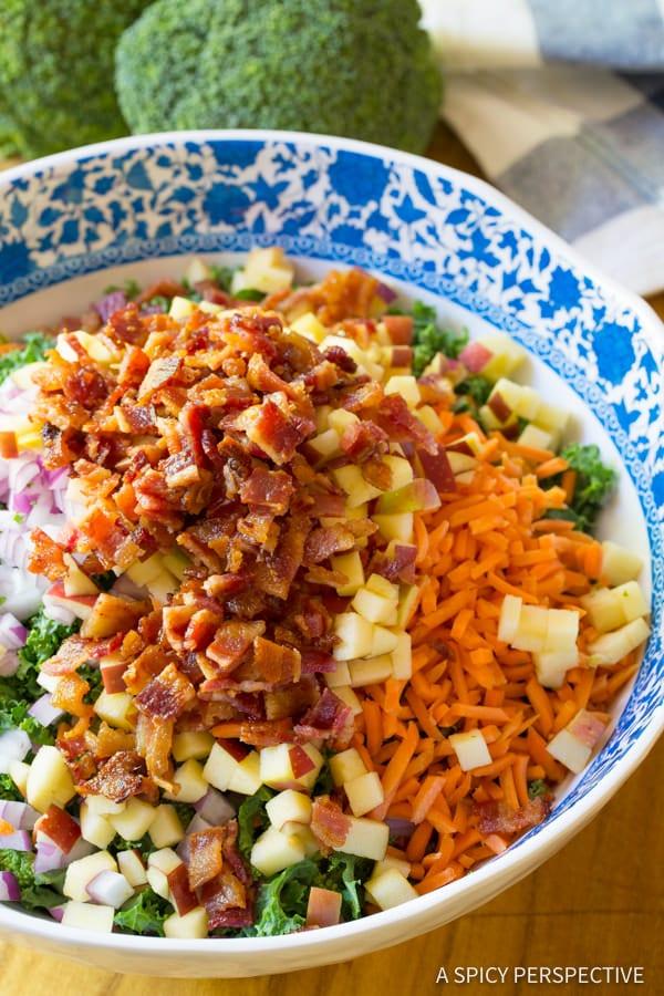 How to Make The Best Broccoli Salad Recipe | ASpicyPerspective.com