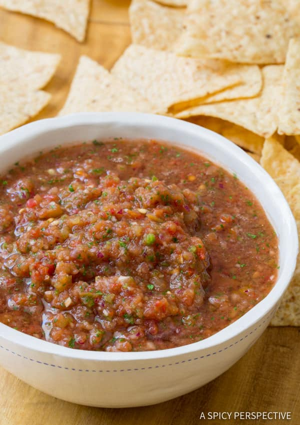 Delicious!! The Best Homemade Salsa Recipe (Quick, Healthy & Delicious!) | ASpicyPerspective.com