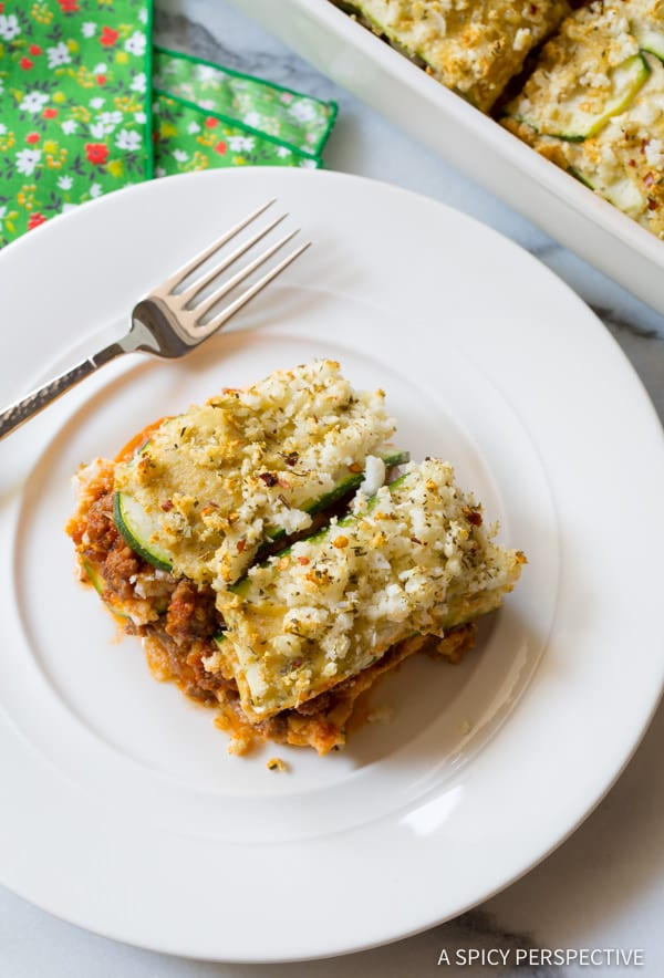 Truly The Best Paleo Lasagna | ASpicyPerspective.com