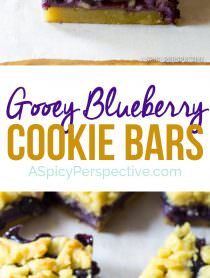 The Best Gooey Blueberry Bars | ASpicyPerspective.com