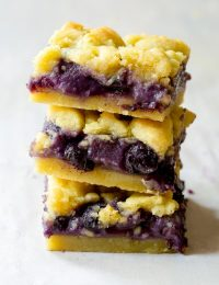 Fresh Gooey Blueberry Bars | ASpicyPerspective.com