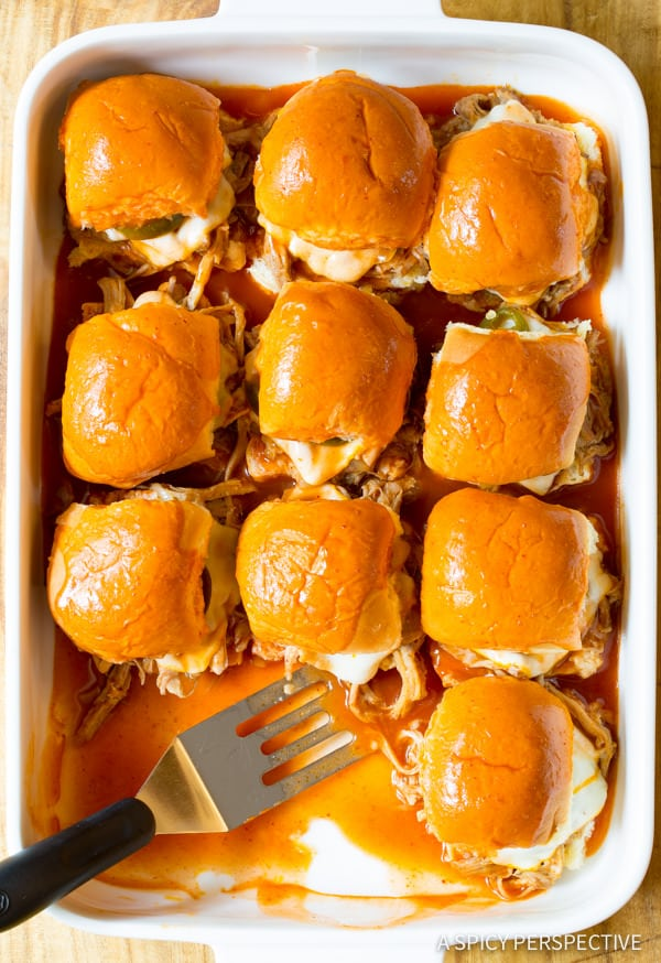 Drowned Carnitas Party Sandwiches (Torta Ahogada Recipe) | ASpicyPerspective.com