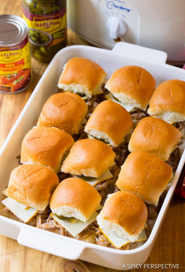 Making Easy Drowned Carnitas Party Sandwiches (Torta Ahogada Recipe) | ASpicyPerspective.com