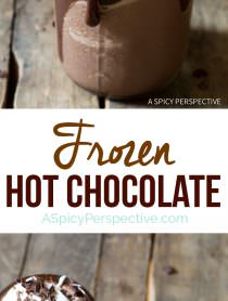 The Best Frozen Hot Chocolate Recipe | ASpicyPerspective.com