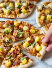 Grilled Chicken Teriyaki Pizza | ASpicyPerspective.com