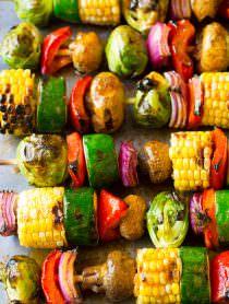 Grilled Fajita Vegetable Skewers | ASpicyPerspective.com