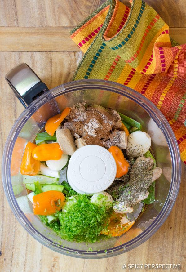 Making Healthy Jamaican Jerk Chicken Thighs Recipe | ASpicyPerspective.com