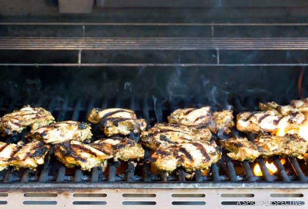 Best Healthy Jamaican Jerk Chicken Thighs Recipe | ASpicyPerspective.com