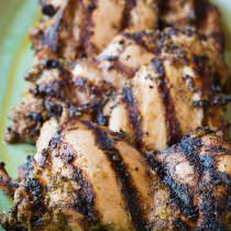 Healthy Jamaican Jerk Chicken Thighs Recipe | ASpicyPerspective.com