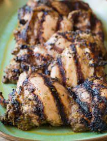 Healthy Jamaican Jerk Chicken Thighs Recipe | ASpicyPerspective.com