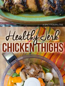 Fast & Healthy Jamaican Jerk Chicken Thighs Recipe | ASpicyPerspective.com