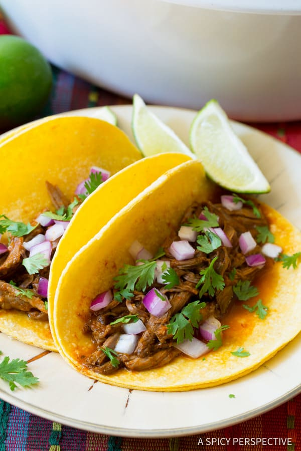 Caribbean Slow Cooker Barbacoa Recipe | ASpicyPerspective.com