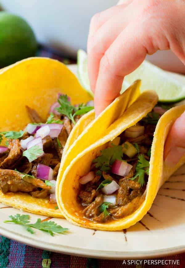 Beef Tacos #ASpicyPerspective #Barbacoa #BarbacoaRecipe #WhatisBarbacoa #Beef #SlowCooker #Dinner #MainDish