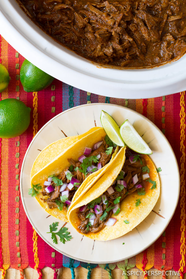 Slow Cooker Beef Barbacoa {A Spicy Perspective}