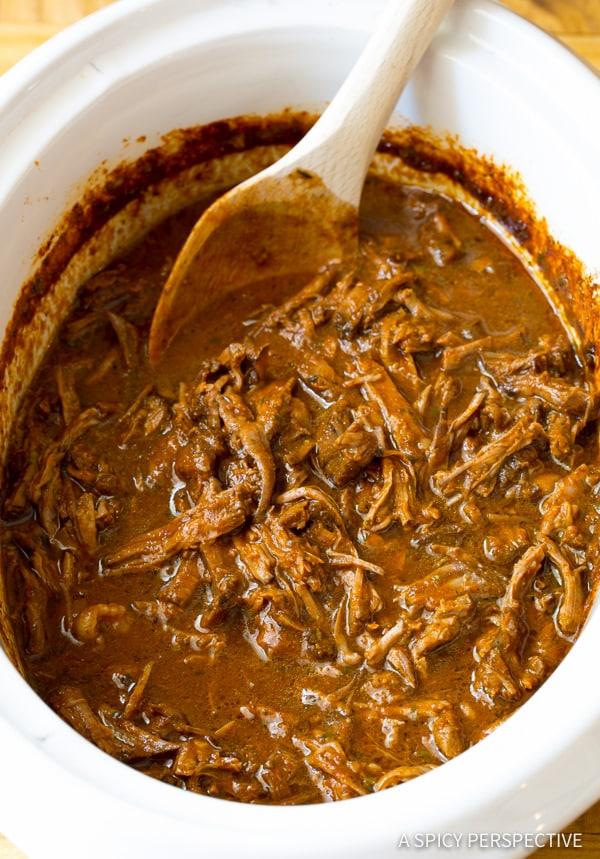 Barbacoa #ASpicyPerspective #Barbacoa #BarbacoaRecipe #WhatisBarbacoa #Beef #SlowCooker #Dinner #MainDish
