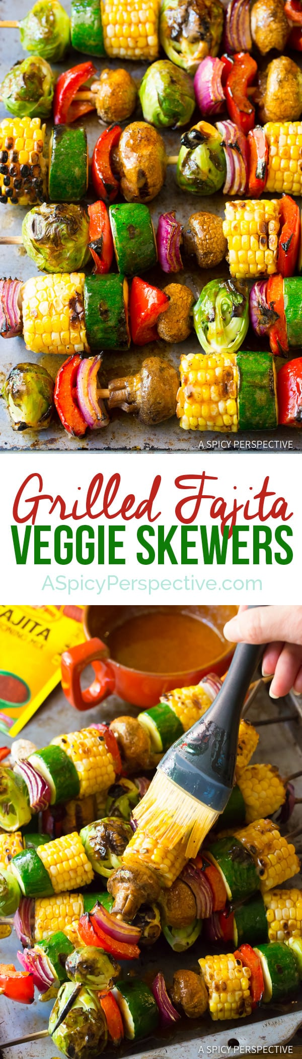 Sizzling Grilled Fajita Vegetable Skewers   ASpicyPerspective.com