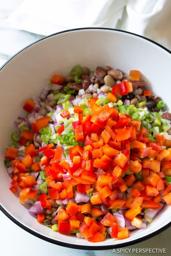 Perfect 15 Bean Salad Recipe | ASpicyPerspective.com