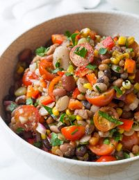 Healthy 15 Bean Salad Recipe | ASpicyPerspective.com