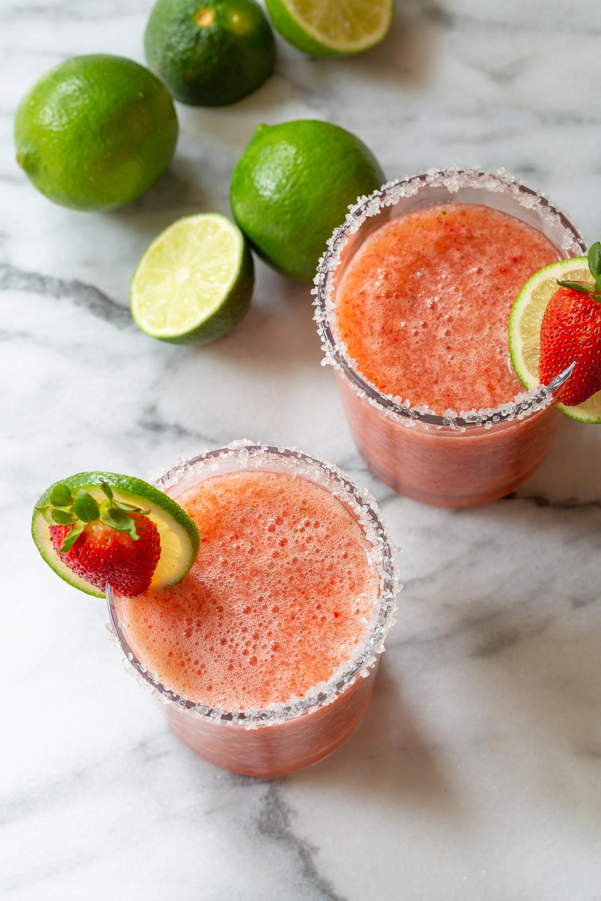 Strawberry jam  in margarita mix
