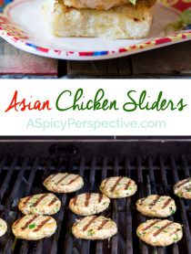 Easy Asian Chicken Sliders with Slaw | ASpicyPerspective.com