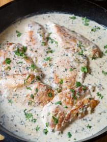 Healthy Creamy Salsa Verde Chicken Skillet Recipe | ASpicyPerspective.com