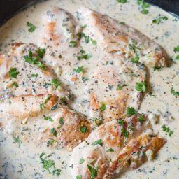 Healthy Creamy Salsa Verde Chicken Skillet Recipe   ASpicyPerspective.com