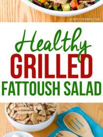 Best Grilled Fattoush Salad Recipe #healthy #summer