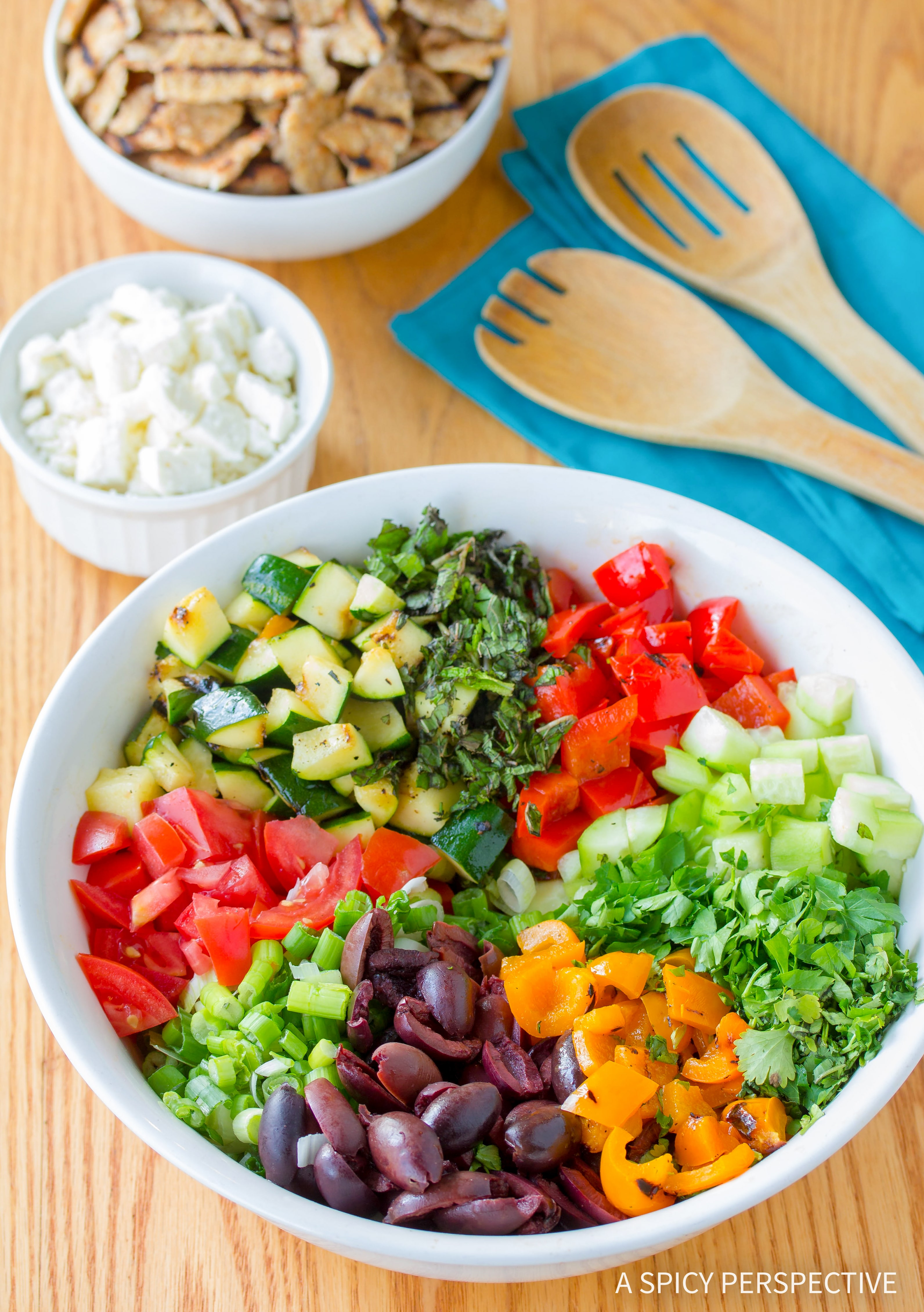 How To Make Grilled Fattoush Salad Recipe #healthy #summer