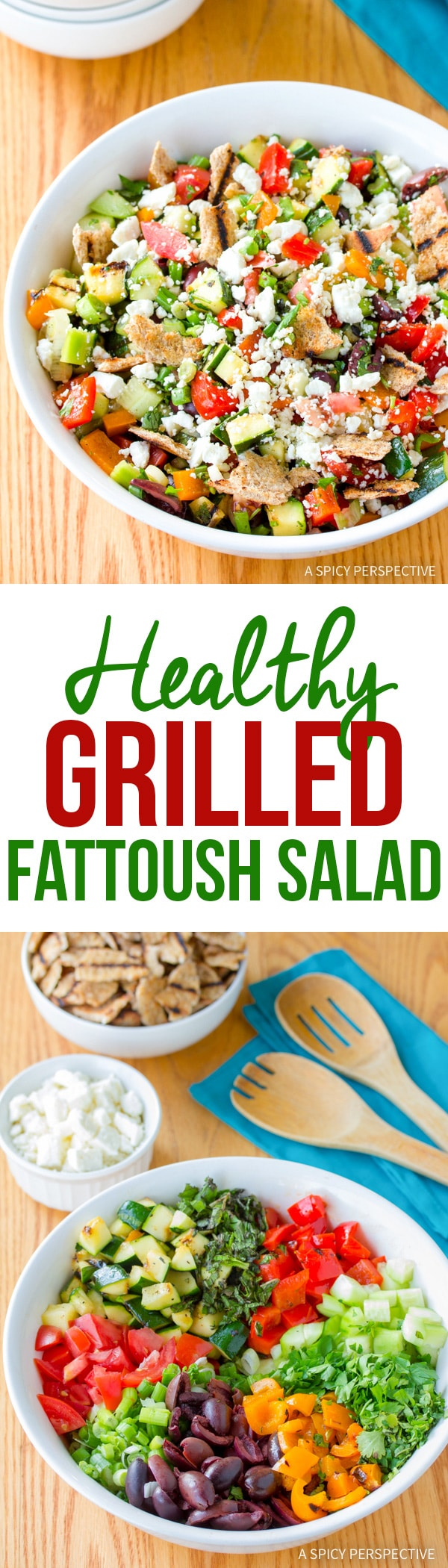Best Grilled Fattoush Salad Recipe #healthy #summer
