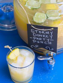 Stormy Donkey Party Punch - Large Batch Cocktail for Summer Parties! | ASpicyPerspective.com