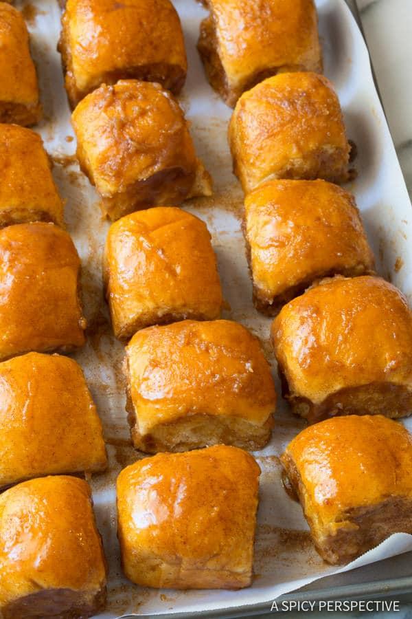 Best 4-Ingredient Cinnamon Toast Buns | ASpicyPerspective.com