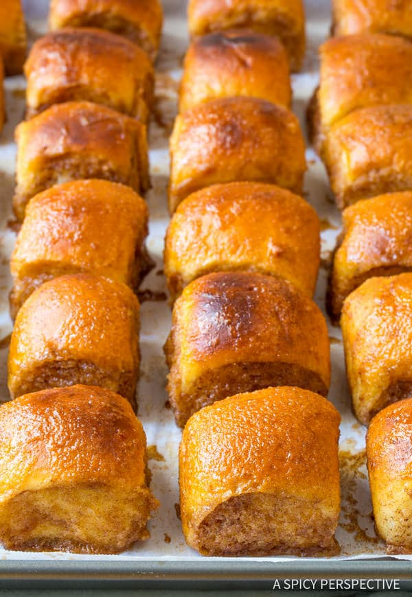 Heavenly 4-Ingredient Cinnamon Toast Buns | ASpicyPerspective.com