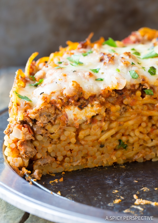 Baked Spaghetti Pie Recipe A Spicy Perspective