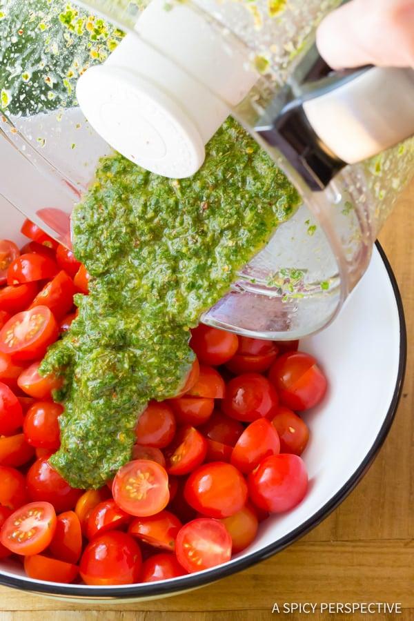 Zesty Chimichurri Tomato Salad | ASpicyPerspective.com
