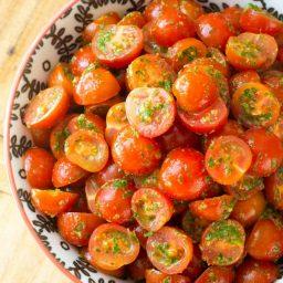 Zesty Healthy Chimichurri Tomato Salad | ASpicyPerspective.com