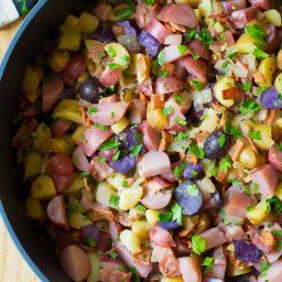 Warm German Potato Salad Recipe with Bacon | ASpicyPerspective.com