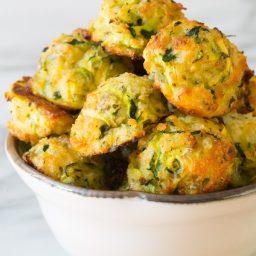 Crispy 6-Ingredient Healthy Baked Zucchini Tots (Gluten Free!) | ASpicyPerspective.com