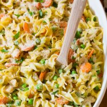 Perfect One-Pot Chicken Noodle Casserole | ASpicyPerspective.com