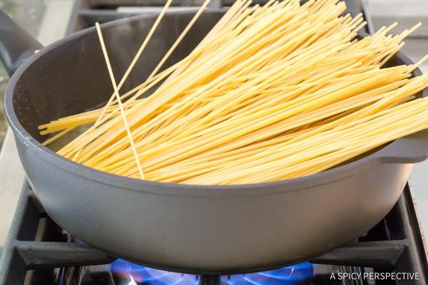 Step 2 - One Pot Spaghetti Carbonara | ASpicyPerspective.com