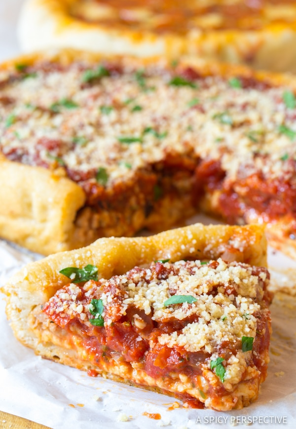 Slow Cooker Deep Dish Pizza Chicago Style A Spicy Perspective