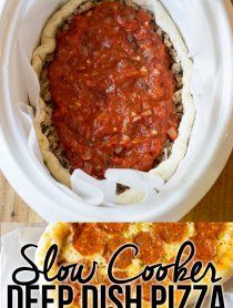 Slow Cooker Deep Dish Pizza Recipe (Chicago Style!) | ASpicyPerspective.com