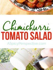 Bold & Healthy Chimichurri Tomato Salad | ASpicyPerspective.com