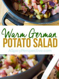 Warm German Potato Salad Recipe | ASpicyPerspective.com