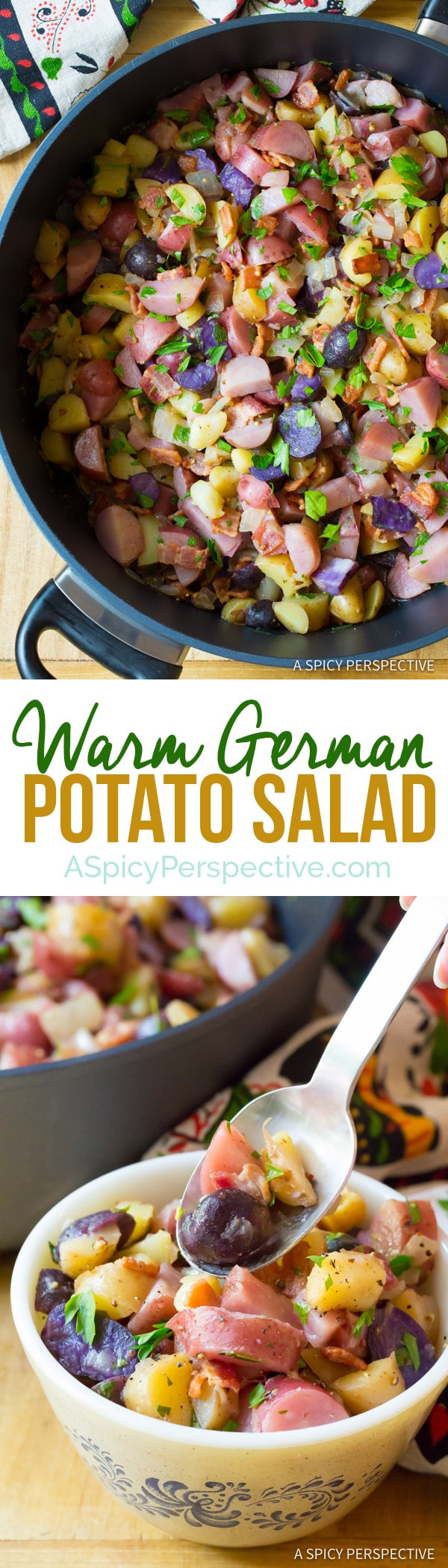 Warm German Potato Salad Recipe | ASpicyPerspective.com