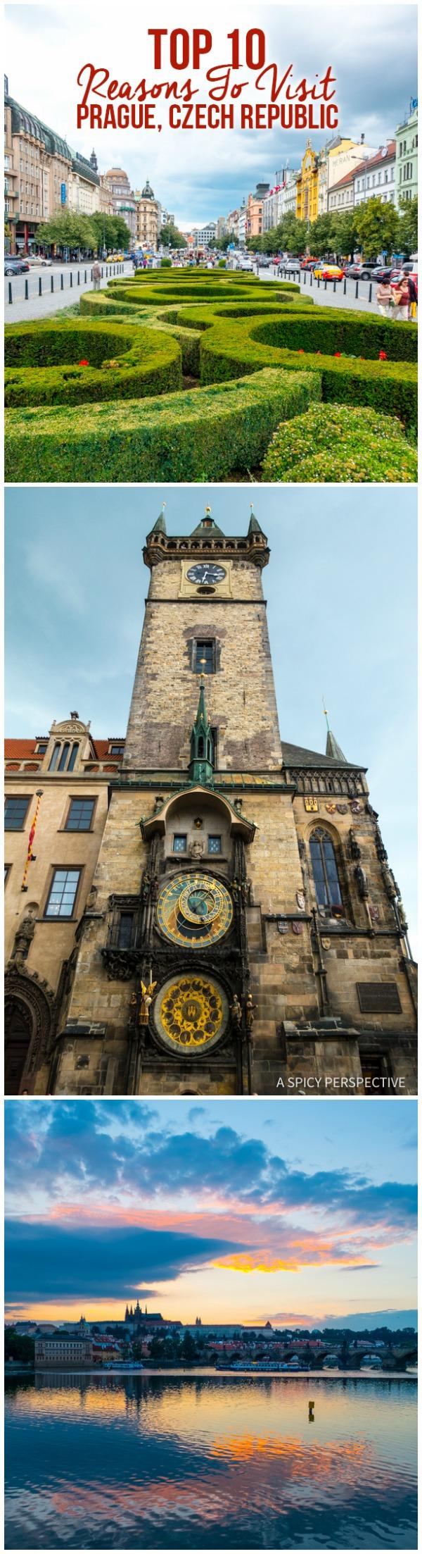 Top 10 Reasons To Visit Prague, Czech Republic #travel #europe