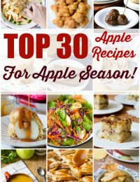 Top 30 Apple Recipes for Apple Season! | ASpicyPerspective.com #fall